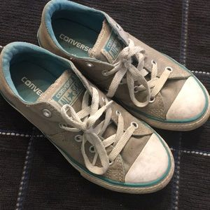 Converse teal and light gray size 1y